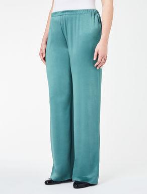 Shiny frisottino palazzo trousers