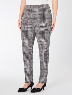 Geometric print cady trousers