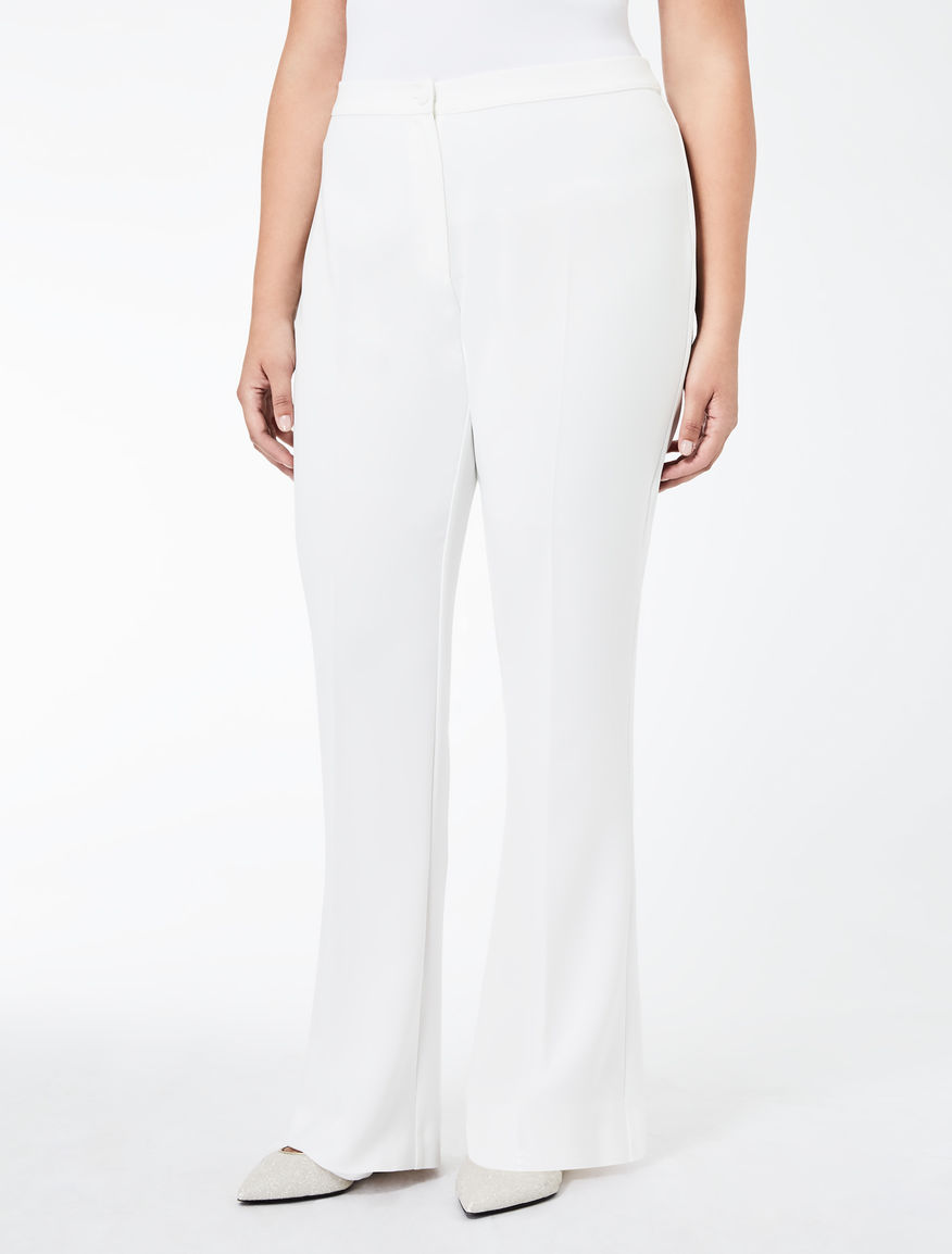 Flare fit triacetate trousers