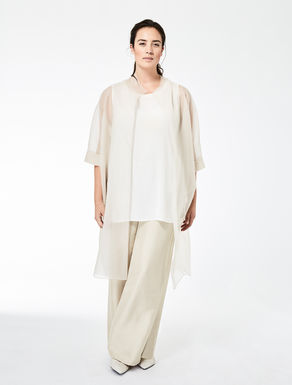 Open-front silk tunic