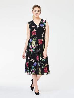 Printed silk georgette dress