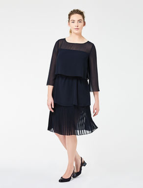 Flounced georgette dress