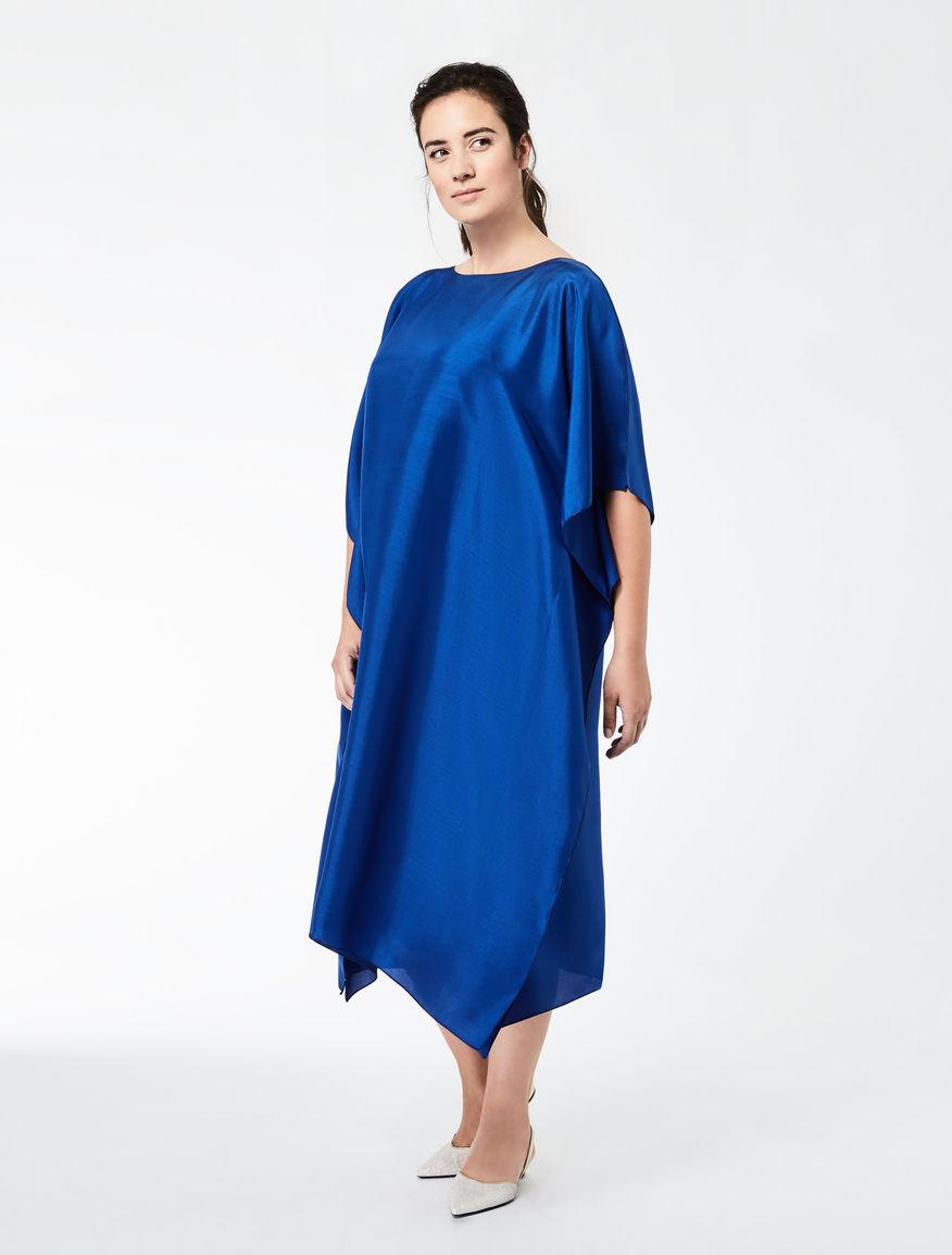 Slub silk dress