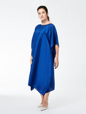 Slub silk dress