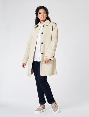 Drop-proof faille trench coat