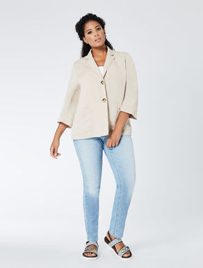 Linen and tencel A-line jacket
