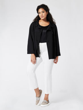 Double raw-cut jersey jacket