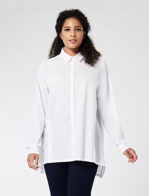 Long cotton poplin shirt