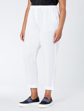 Relaxed-fit linen and tencel trousers