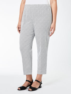 Gabardine cigarette trousers