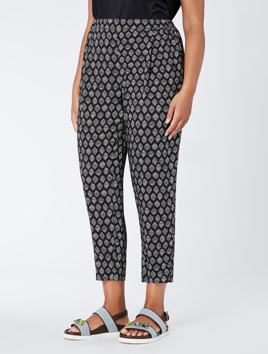 Floaty printed viscose trousers