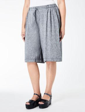 Viscose and linen Bermuda shorts