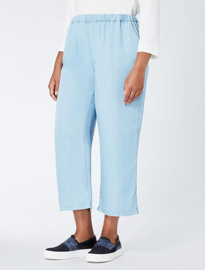 Cropped tencel trousers