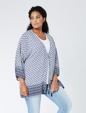 Open viscose crêpe tunic