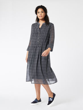 Printed georgette shirt dress
