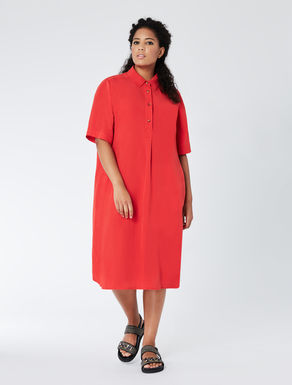 Linen and tencel shirt-dress