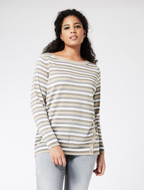 Wool blend striped jumper