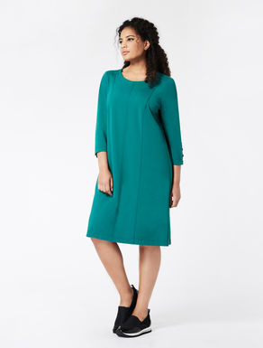 Jersey dress with vertical seams