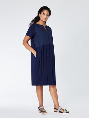 Kleid aus Jersey und Popeline