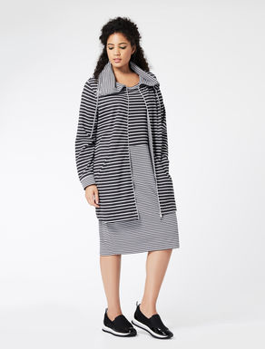 Long striped jersey jacket