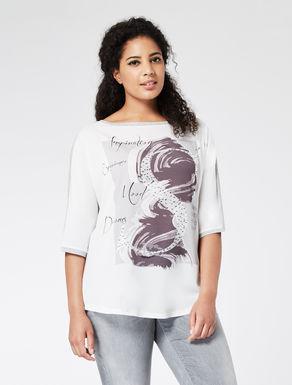 T-Shirt aus Stretchjersey und Webstoff