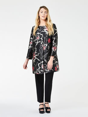 Jacquard jacket with flower pattern