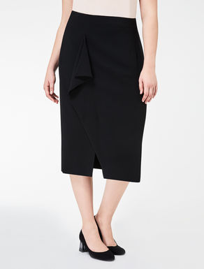 Floaty crêpe skirt with flounce