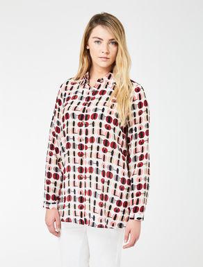 Printed crêpe de Chine shirt