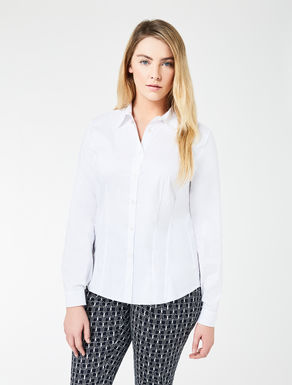 Poplin and jersey shirt
