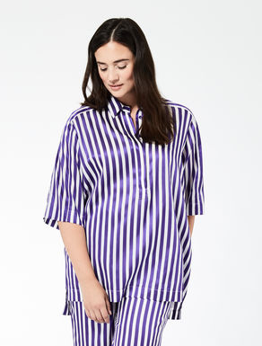Oversize cotton and viscose shirt