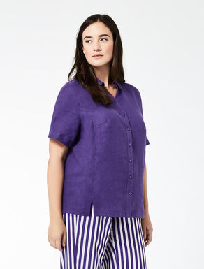 Boxy pure linen shirt