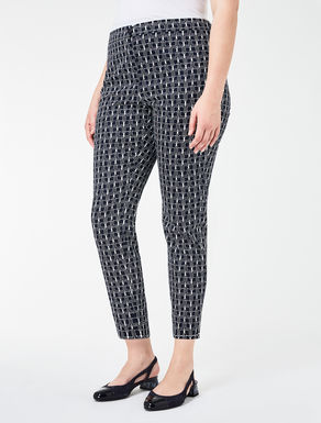 Pantalone leggings in raso stretch