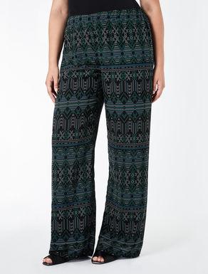 Printed chiffon palazzo trousers
