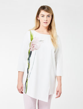 Floaty stretch tunic with print