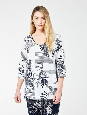 Floaty printed crêpe tunic