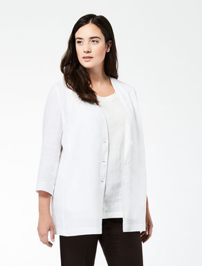 Linen tunic with metal edging