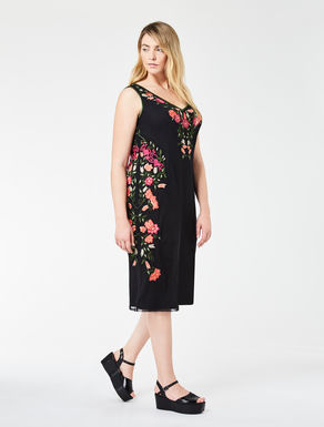 Tube dress in embroidered tulle