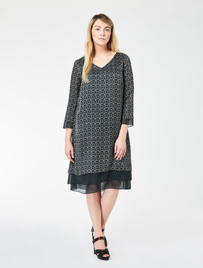 Printed silk voile dress