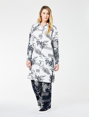 Floaty crêpe shirt dress