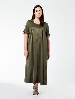 Long asymmetrical poplin dress