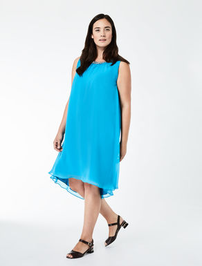 Georgette dress with beads
