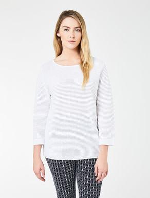 Pullover aus angerauter Baumwolle