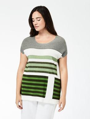 T-shirt in cotone con intarsi