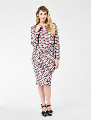 Printed shiny jersey dress