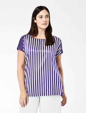 T-shirt boxy in jersey di lino
