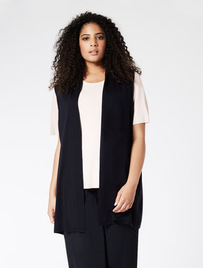 EASY TRAVEL Gilet lungo in lana