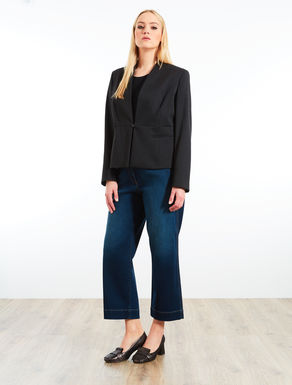 Structured stretch blazer jacket