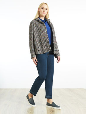 Yarn-dyed bouclé jacket