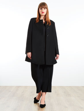 Double velour wool coat