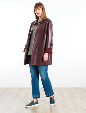 Manteau aspect cuir
